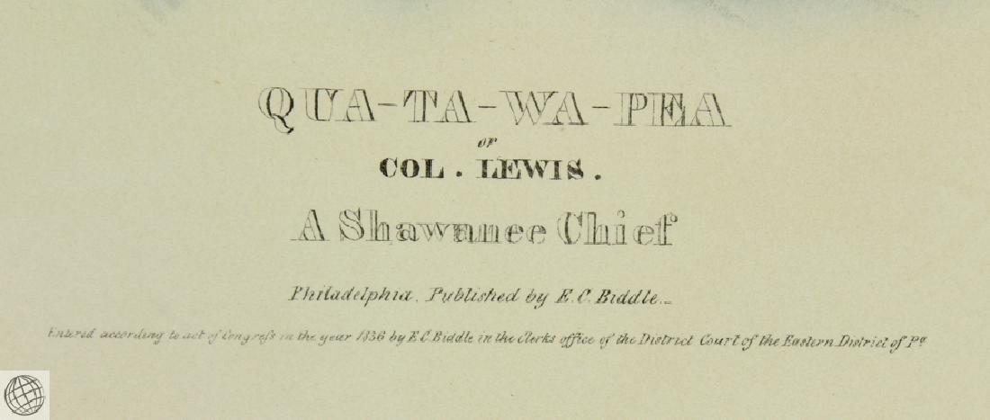 Qua-Ta-Wa-Pea or Colonel Lewis A Shawnnee Chief THOMAS - 4