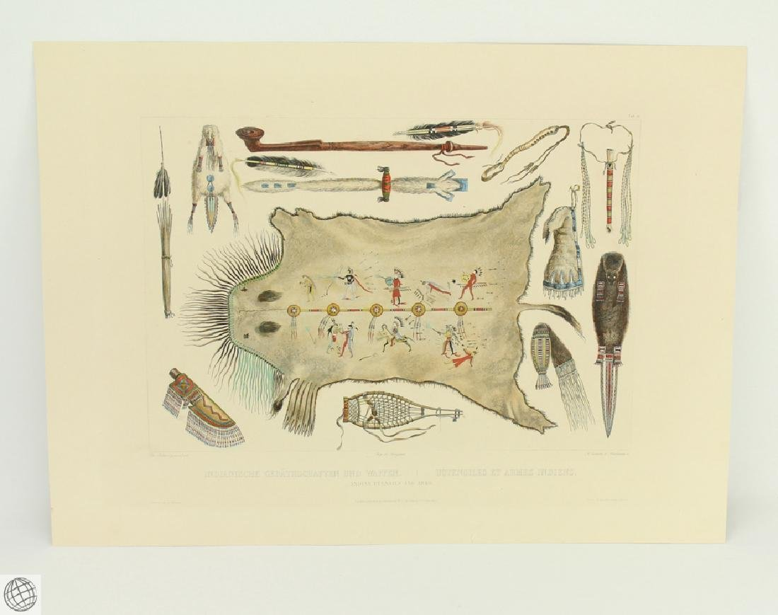 SCARCE Indian Utensils and Arms KARL BODMER 1922