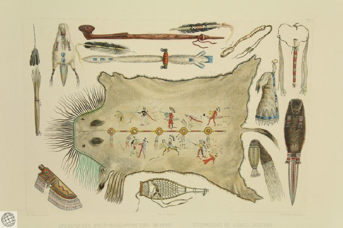 SCARCE Indian Utensils and Arms KARL BODMER 1922 - 2