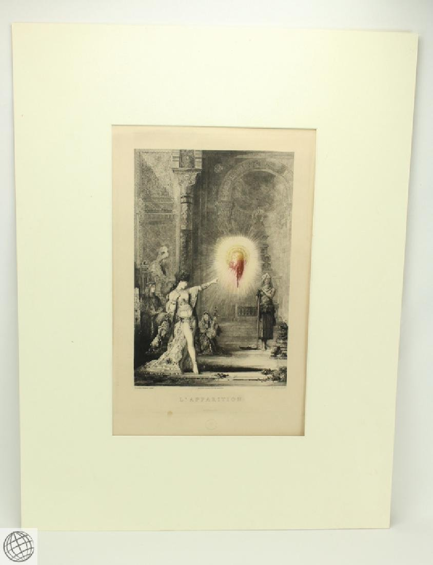 L'Apparition GUSTAVE MOREAU 20thC Etching Hand Colored