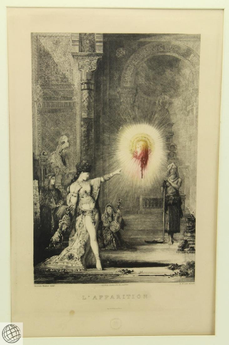 L'Apparition GUSTAVE MOREAU 20thC Etching Hand Colored - 2