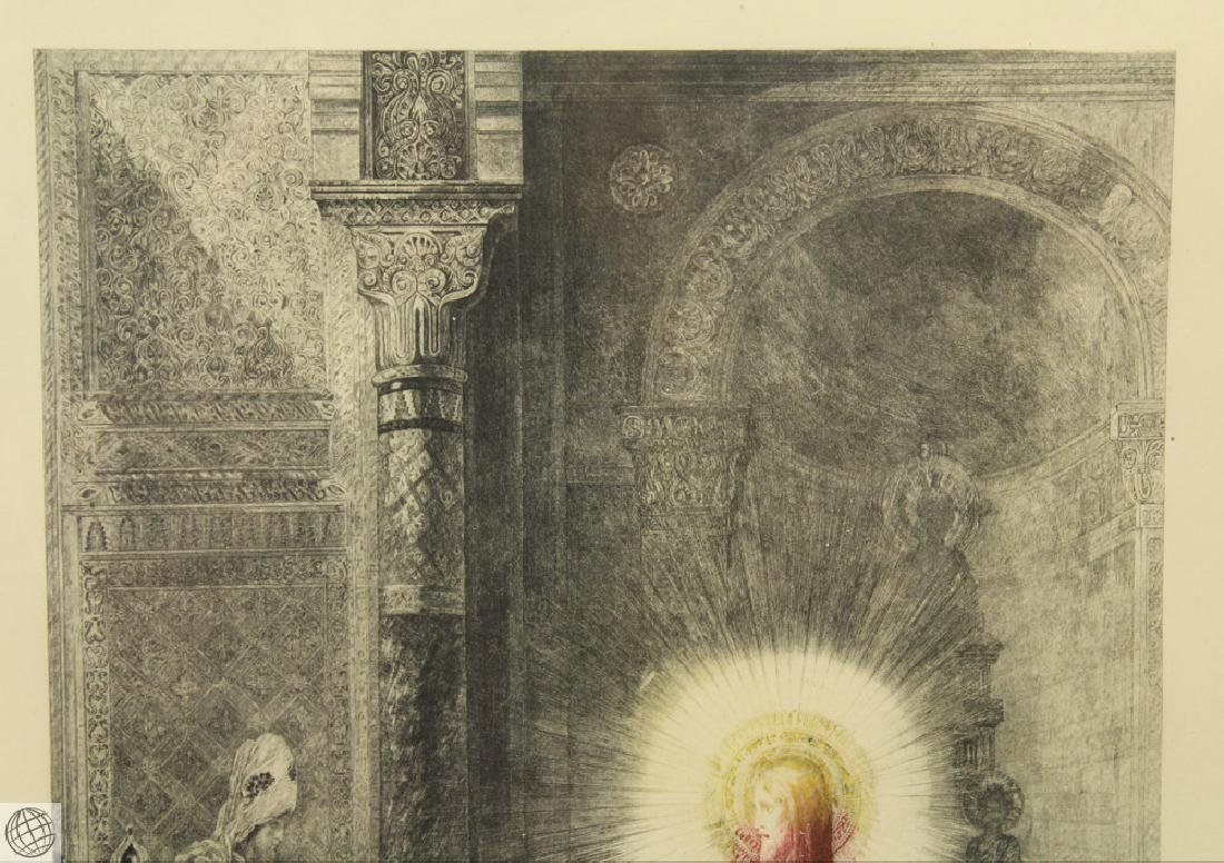 L'Apparition GUSTAVE MOREAU 20thC Etching Hand Colored - 3