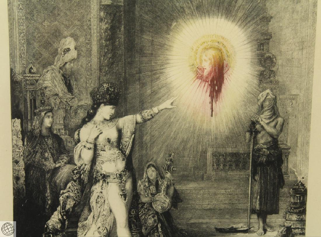 L'Apparition GUSTAVE MOREAU 20thC Etching Hand Colored - 4
