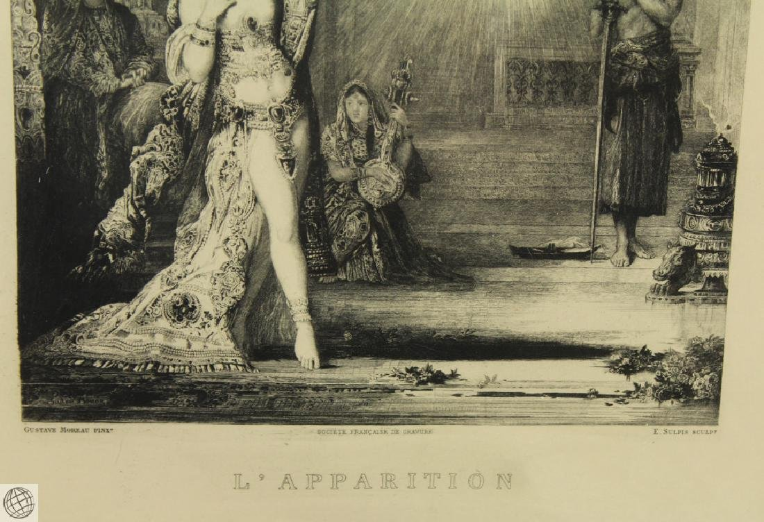 L'Apparition GUSTAVE MOREAU 20thC Etching Hand Colored - 5