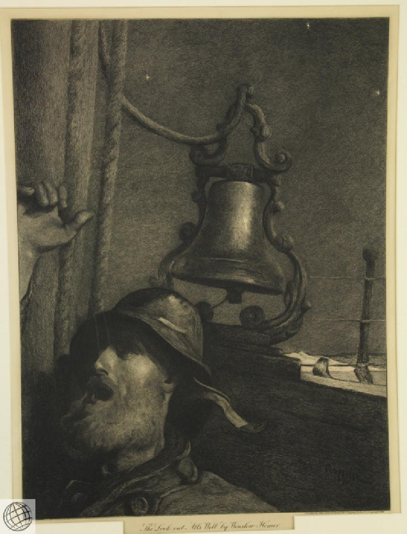 The Look-Out Alls Well WINSLOW HOMER 1906 Etching - 2