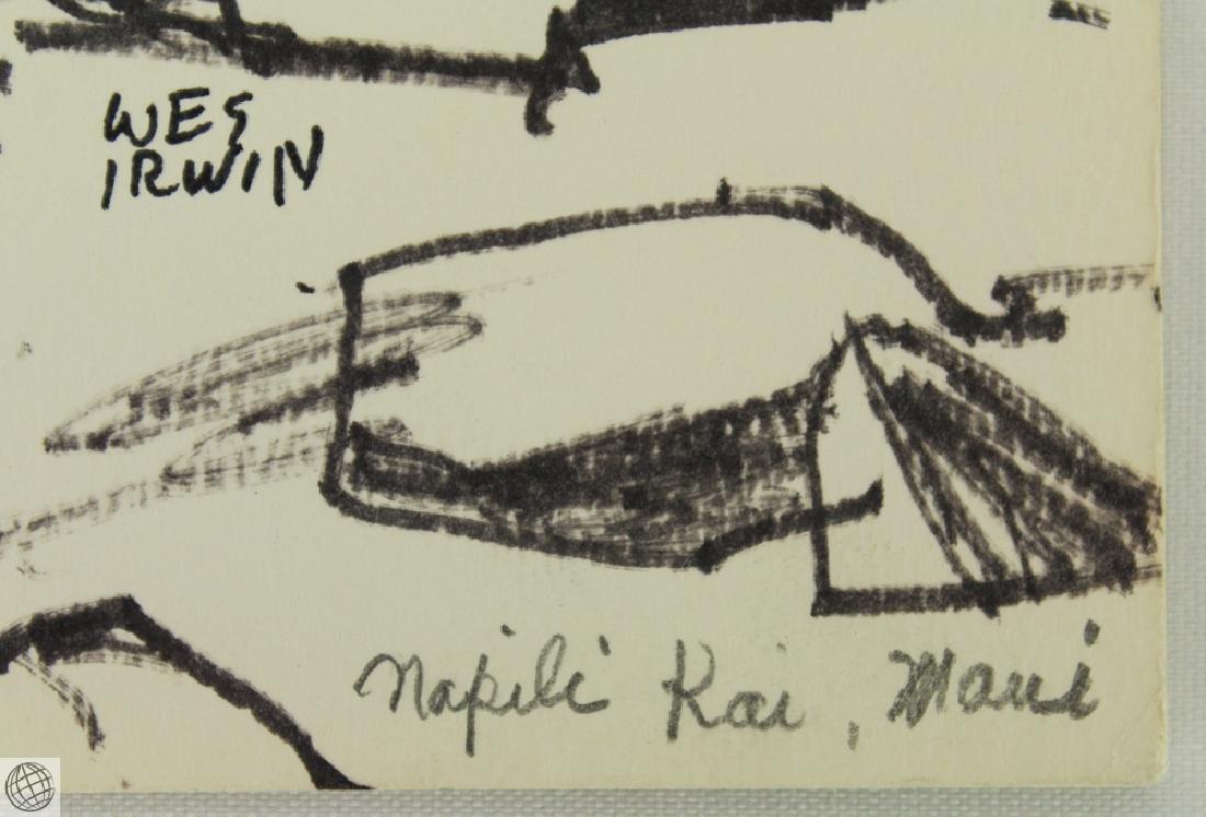 4Pcs Napili Kai in Maui WES IRWIN C1950s Ink Marker On - 8