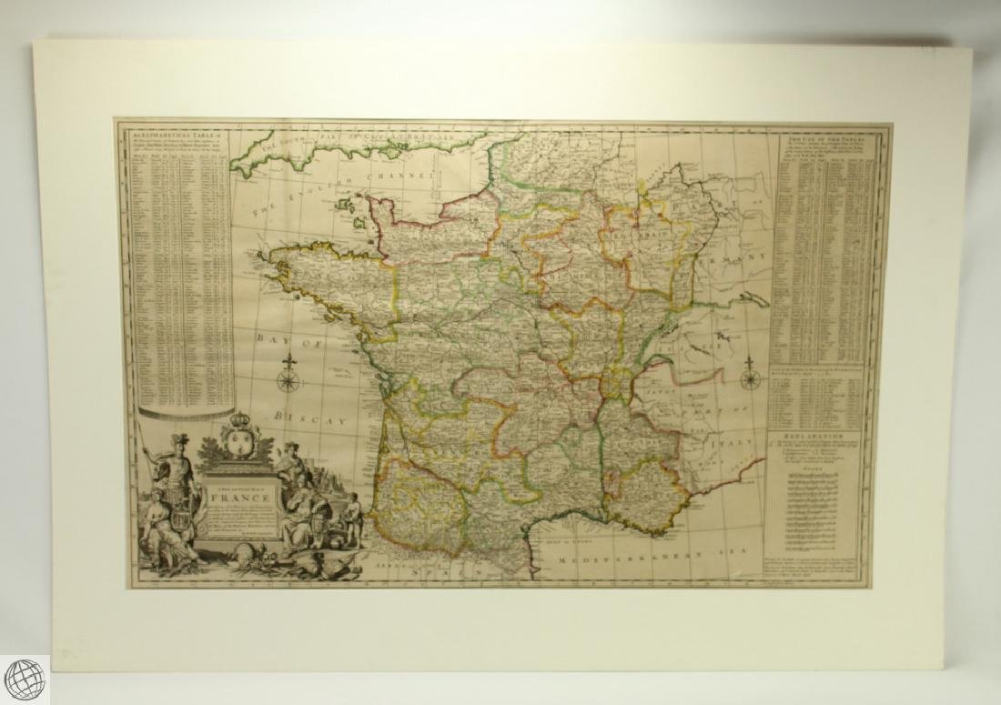 A New and Exact Map of France Dividid HERMAN MOLL
