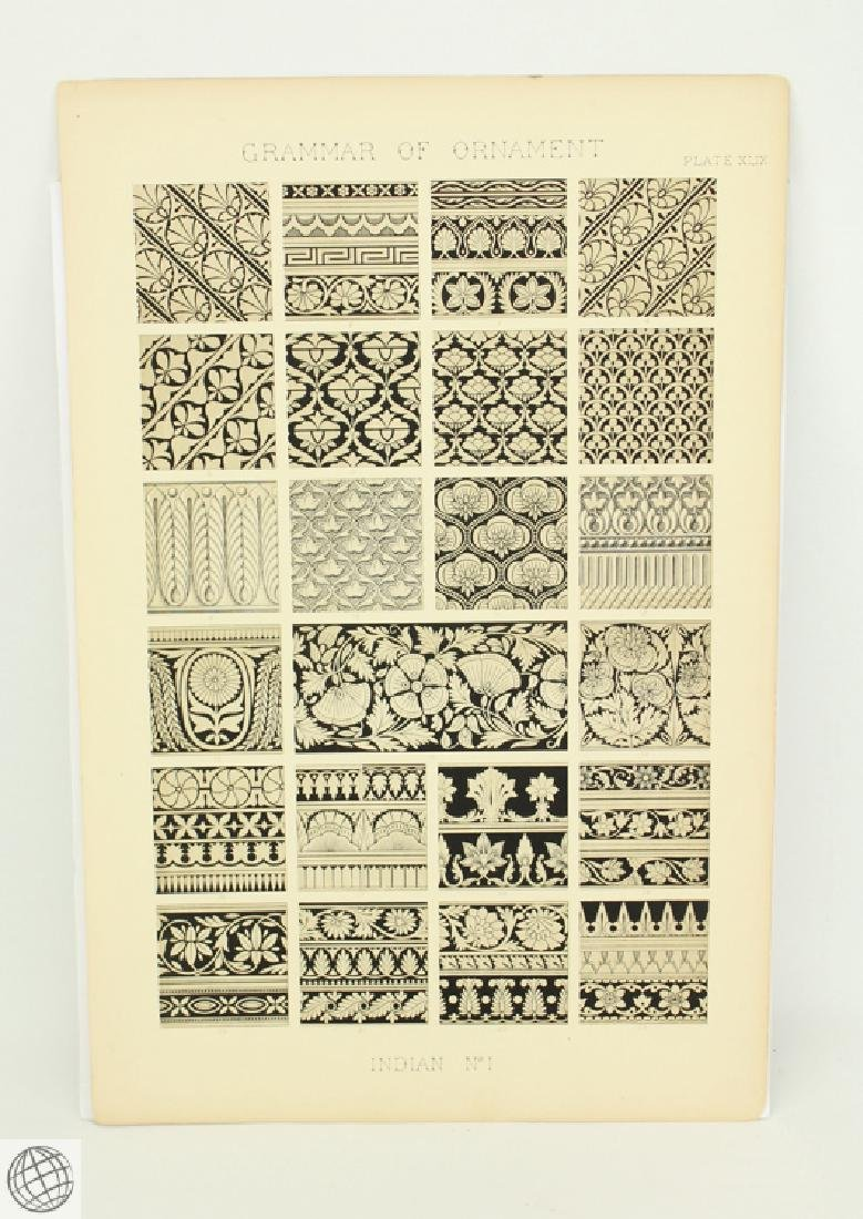 7Pcs Indian Hindu Decorative Motifs OWEN JONES 1856 - 2