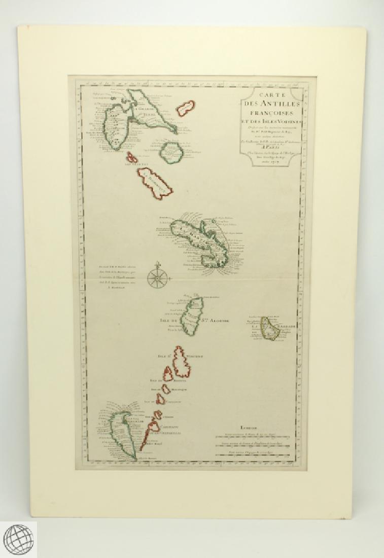 Carte des Antilles Françoises et des Indes Voisines