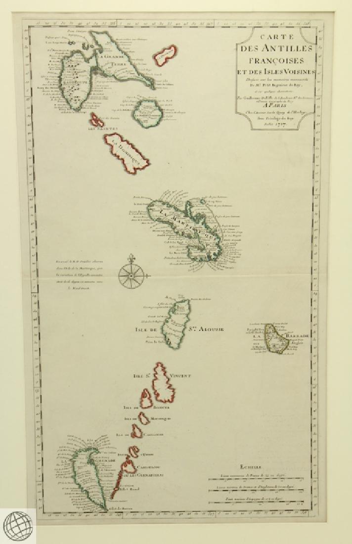 Carte des Antilles Françoises et des Indes Voisines - 2