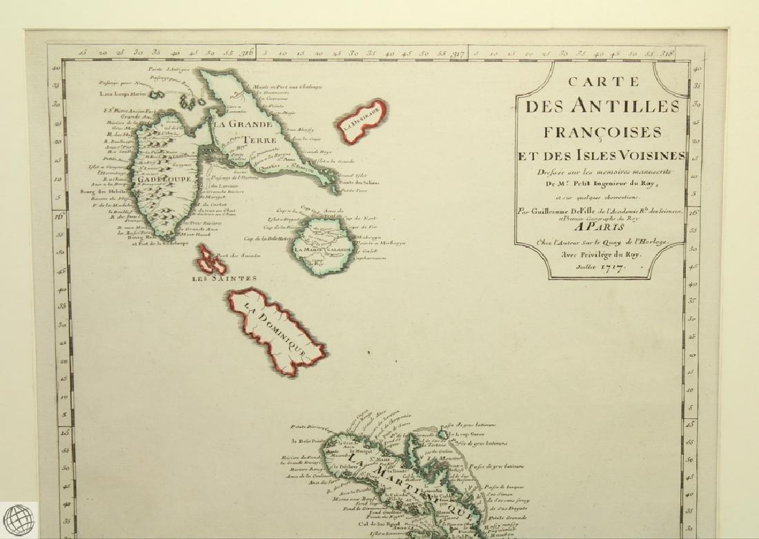 Carte des Antilles Françoises et des Indes Voisines - 3