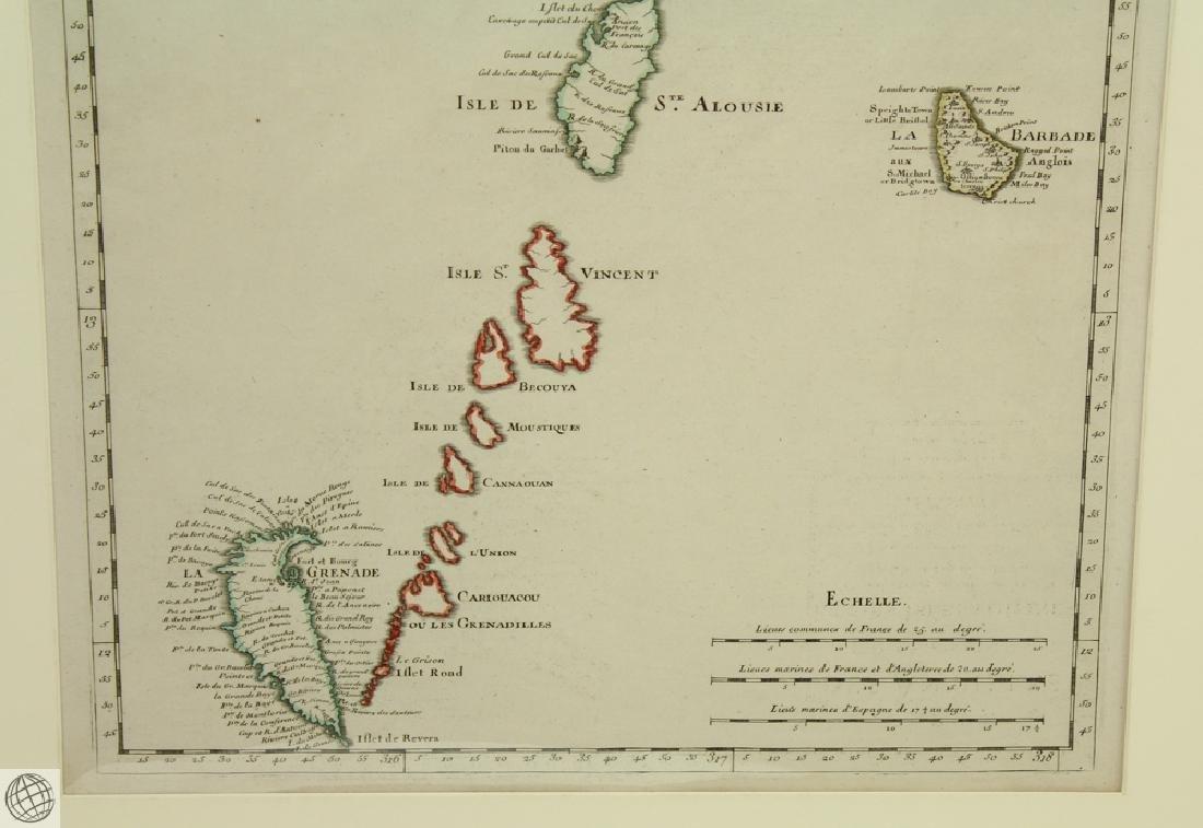 Carte des Antilles Françoises et des Indes Voisines - 5