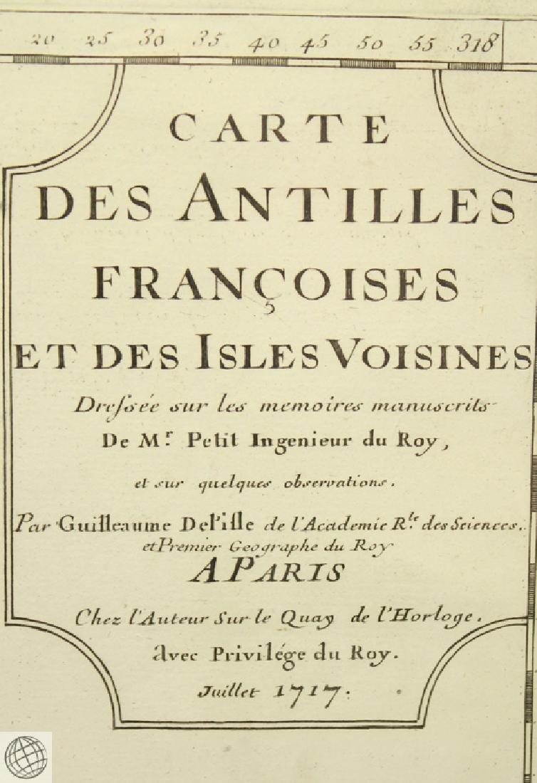 Carte des Antilles Françoises et des Indes Voisines - 6