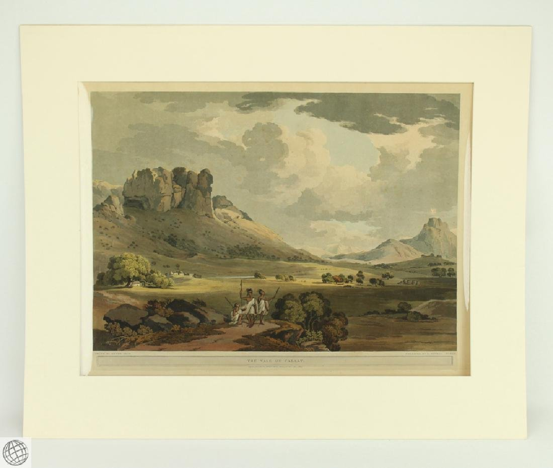 The Vale of Calaat HENRY SALT 1809 Aquatint Engraving