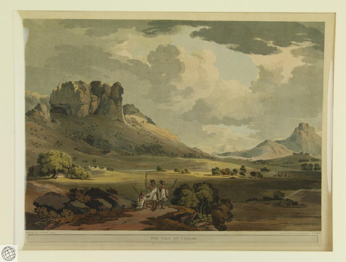 The Vale of Calaat HENRY SALT 1809 Aquatint Engraving - 2