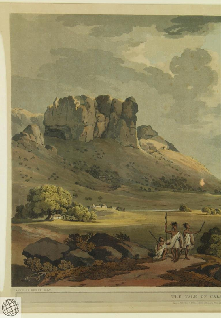 The Vale of Calaat HENRY SALT 1809 Aquatint Engraving - 3