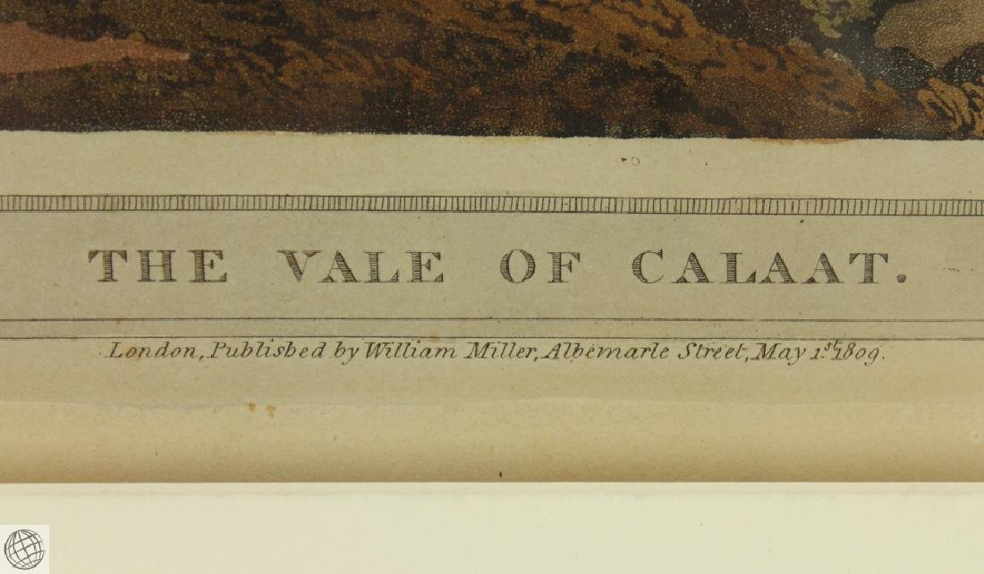 The Vale of Calaat HENRY SALT 1809 Aquatint Engraving - 5