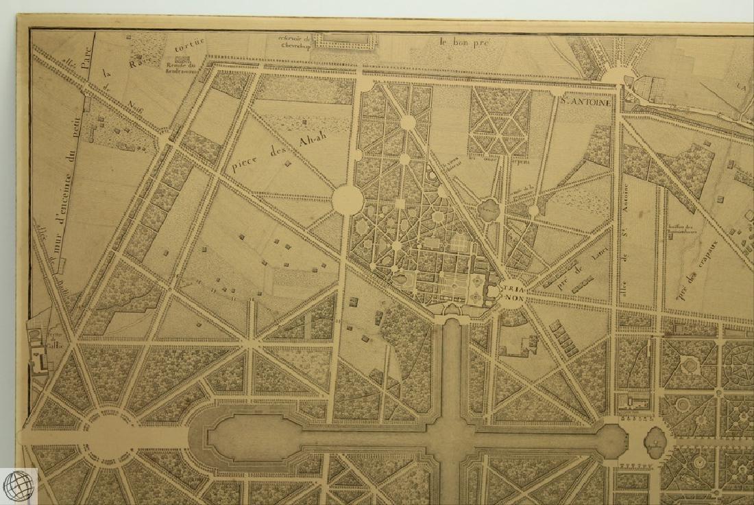 Plan de Versailles LABBE DELAGRIVE C1746 Engraving - 2