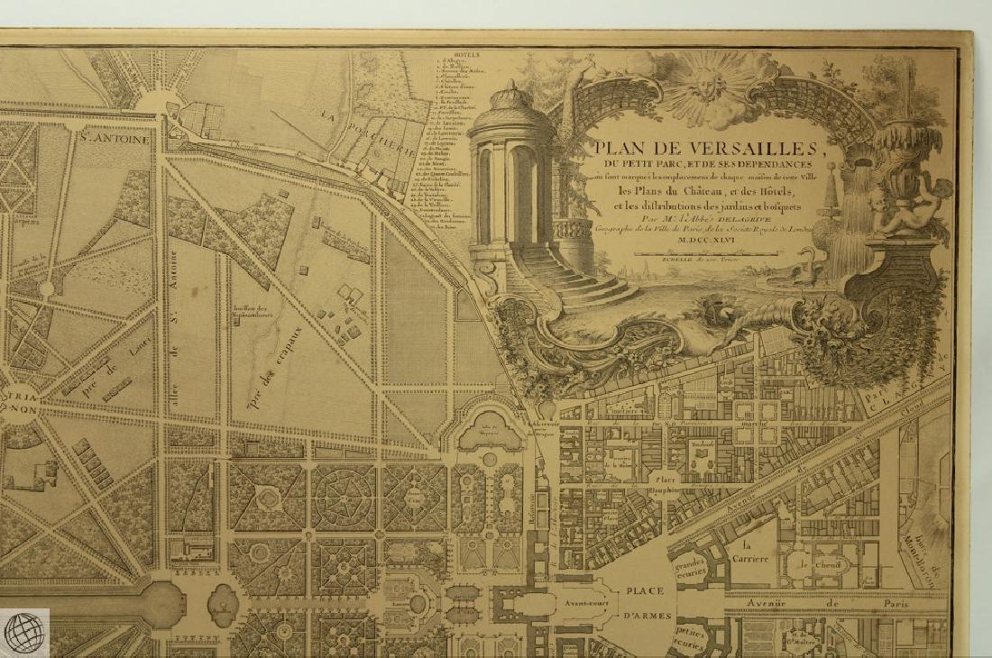 Plan de Versailles LABBE DELAGRIVE C1746 Engraving - 3