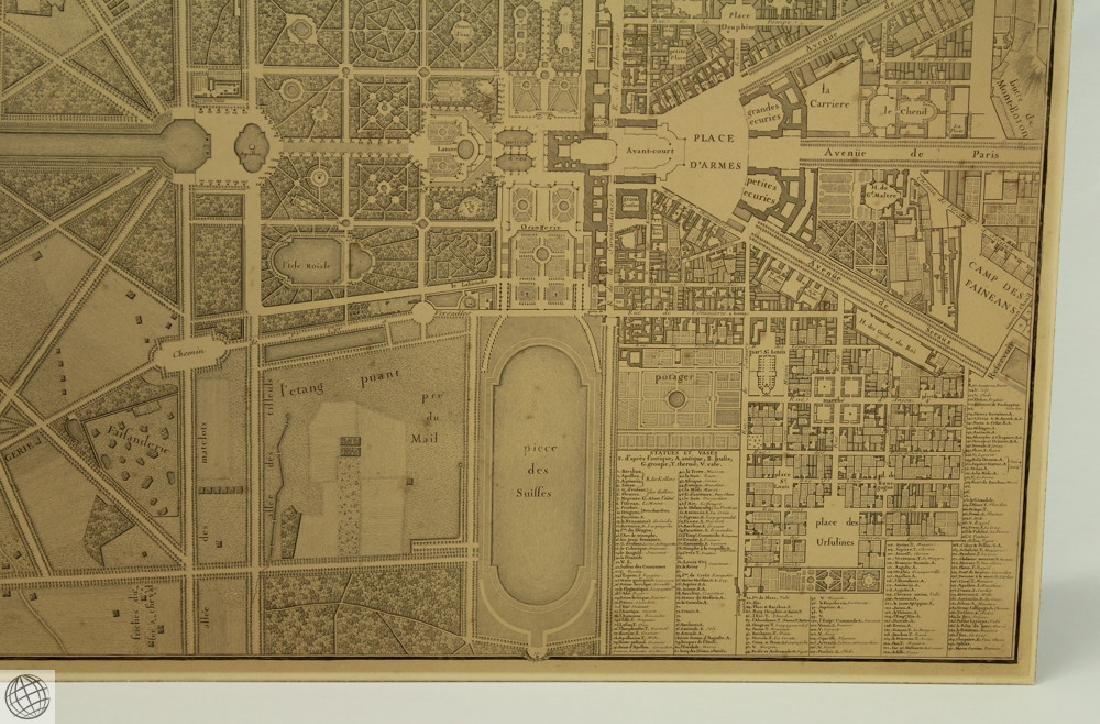 Plan de Versailles LABBE DELAGRIVE C1746 Engraving - 4