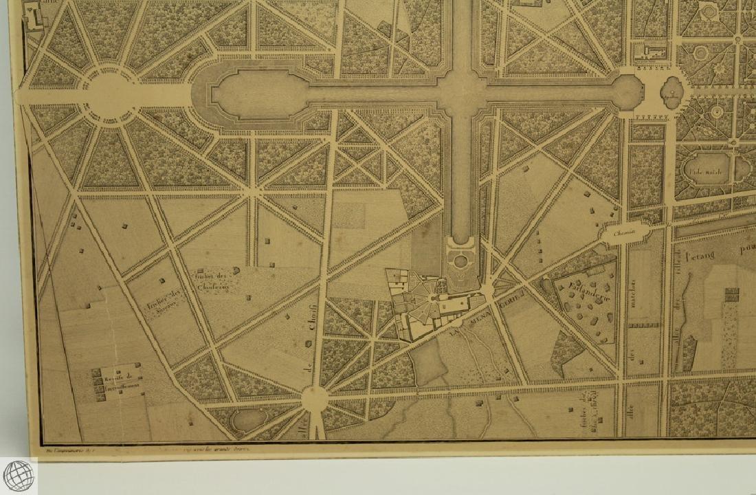 Plan de Versailles LABBE DELAGRIVE C1746 Engraving - 5