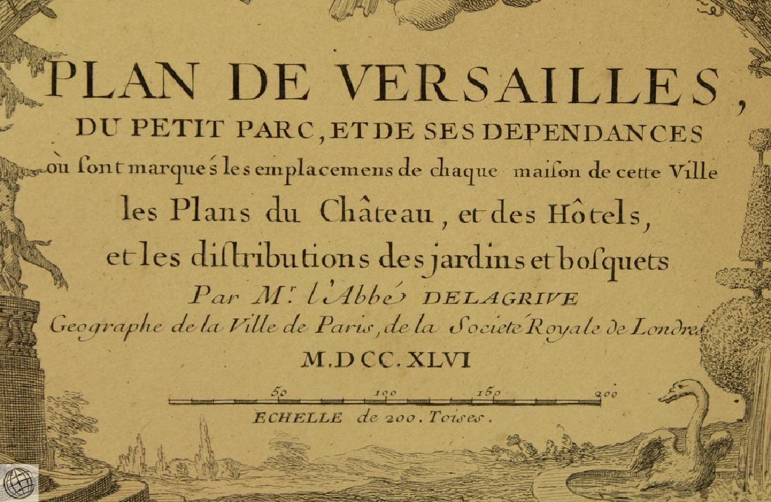 Plan de Versailles LABBE DELAGRIVE C1746 Engraving - 6