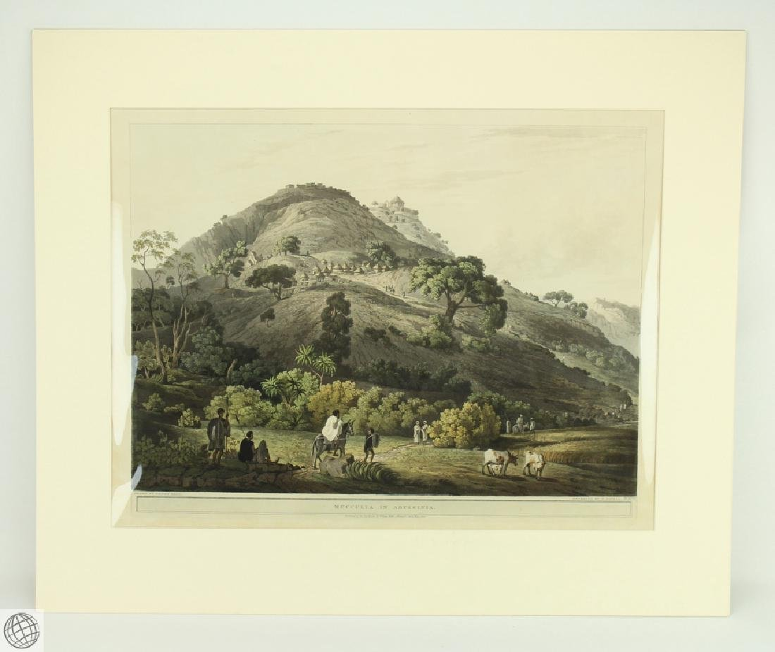 Mucculla in Abyssinia HENRY SALT 1809 Aquatint