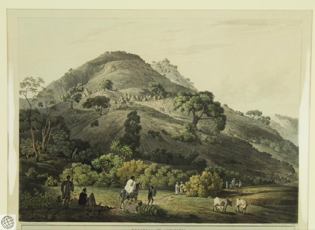 Mucculla in Abyssinia HENRY SALT 1809 Aquatint - 2