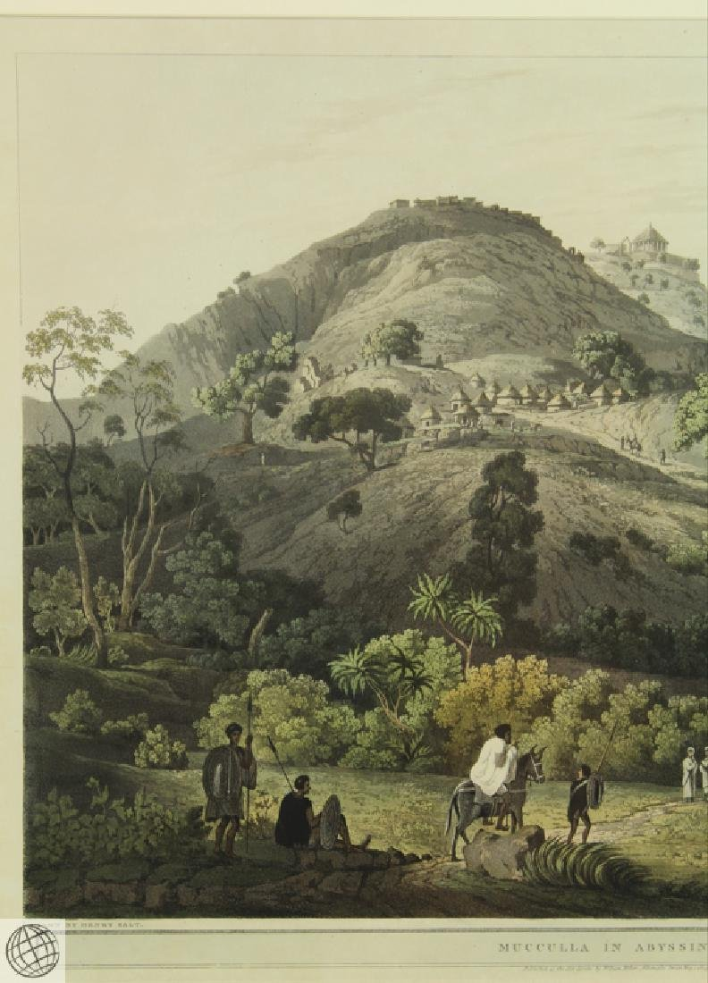 Mucculla in Abyssinia HENRY SALT 1809 Aquatint - 3