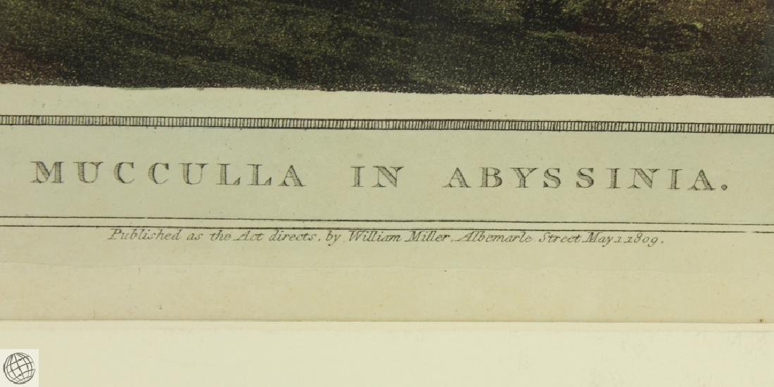 Mucculla in Abyssinia HENRY SALT 1809 Aquatint - 5