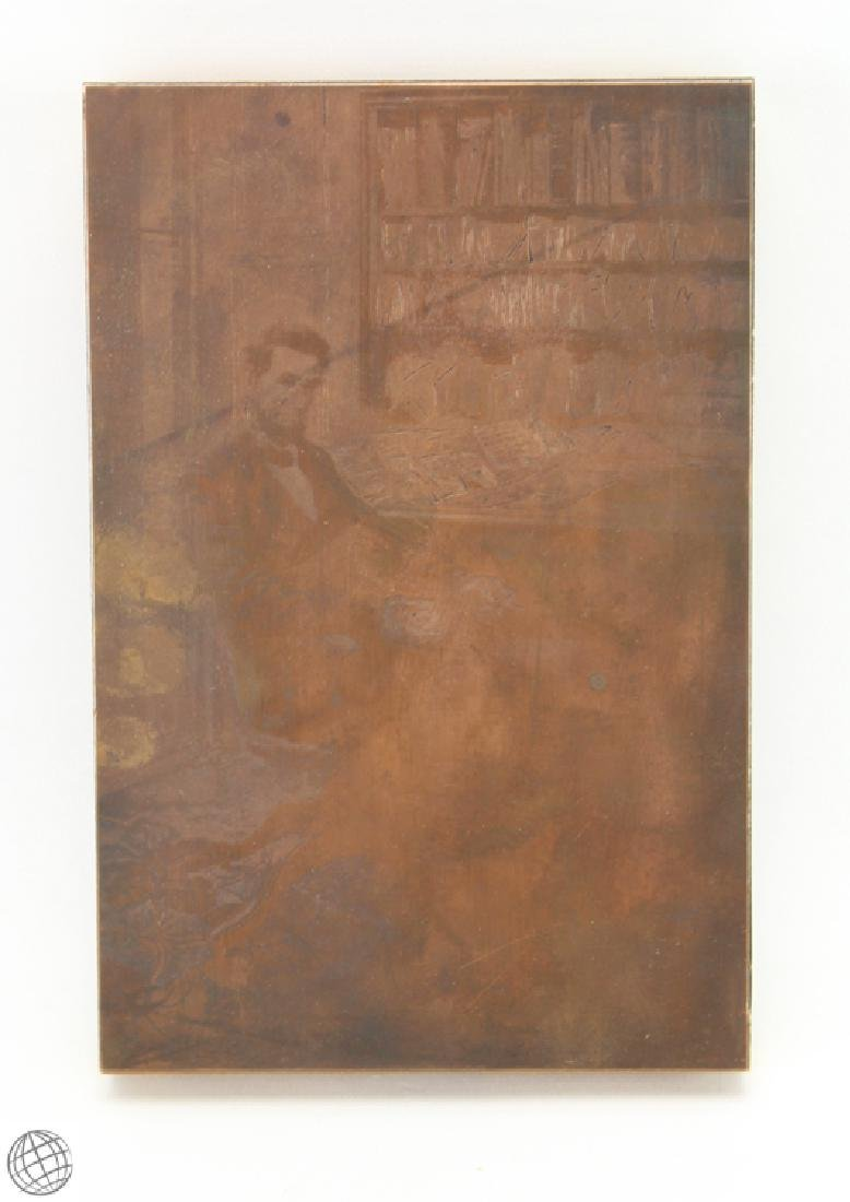 Abraham Lincoln HOWARD PYLE 1907 Original Copper Plate
