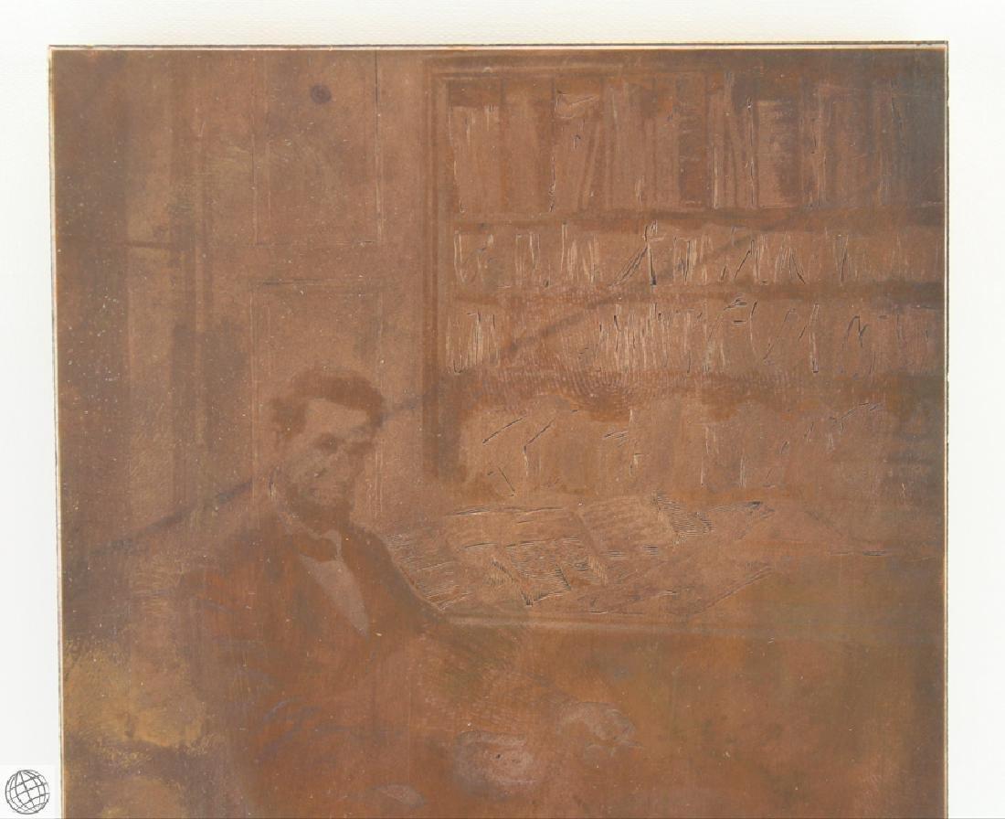Abraham Lincoln HOWARD PYLE 1907 Original Copper Plate - 2