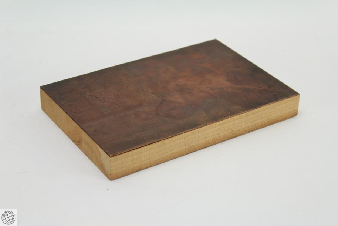 Abraham Lincoln HOWARD PYLE 1907 Original Copper Plate - 4