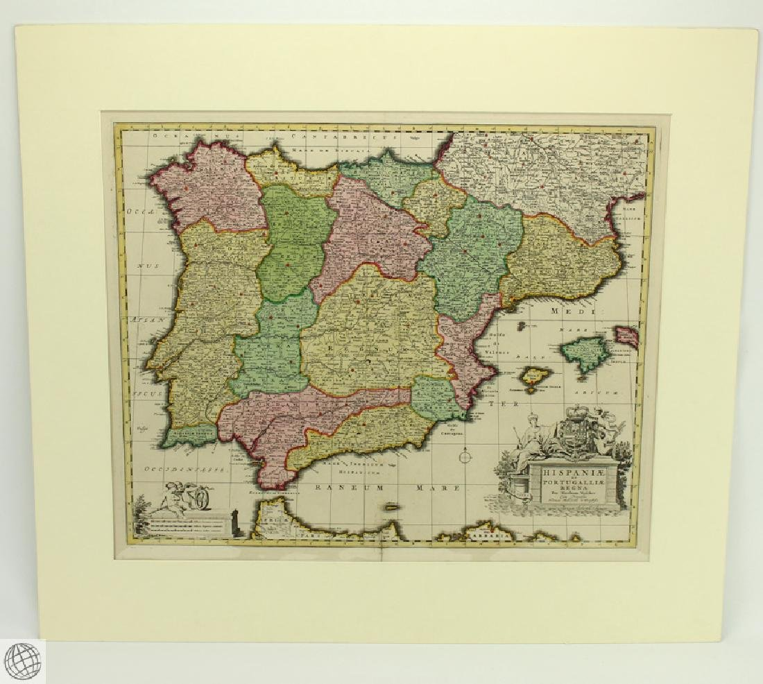 Hispaniæ et Portugalliæ Regna NICOLAES VISSCHER 1725