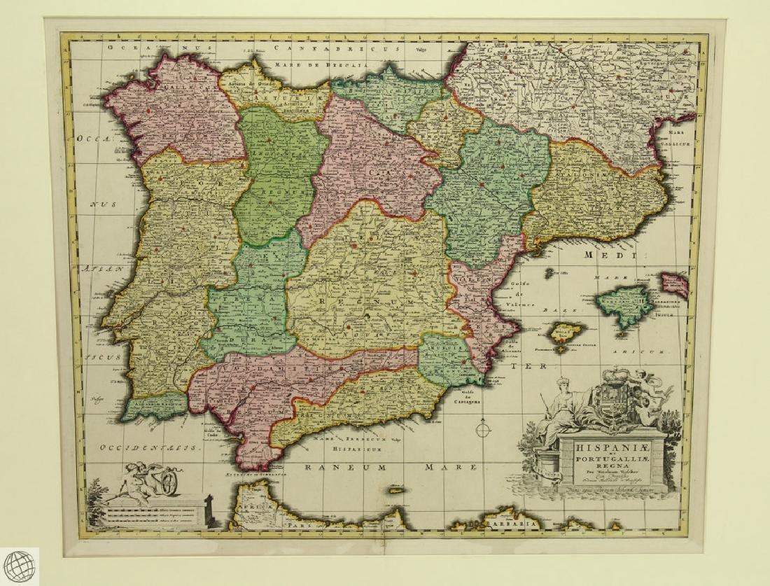Hispaniæ et Portugalliæ Regna NICOLAES VISSCHER 1725 - 2