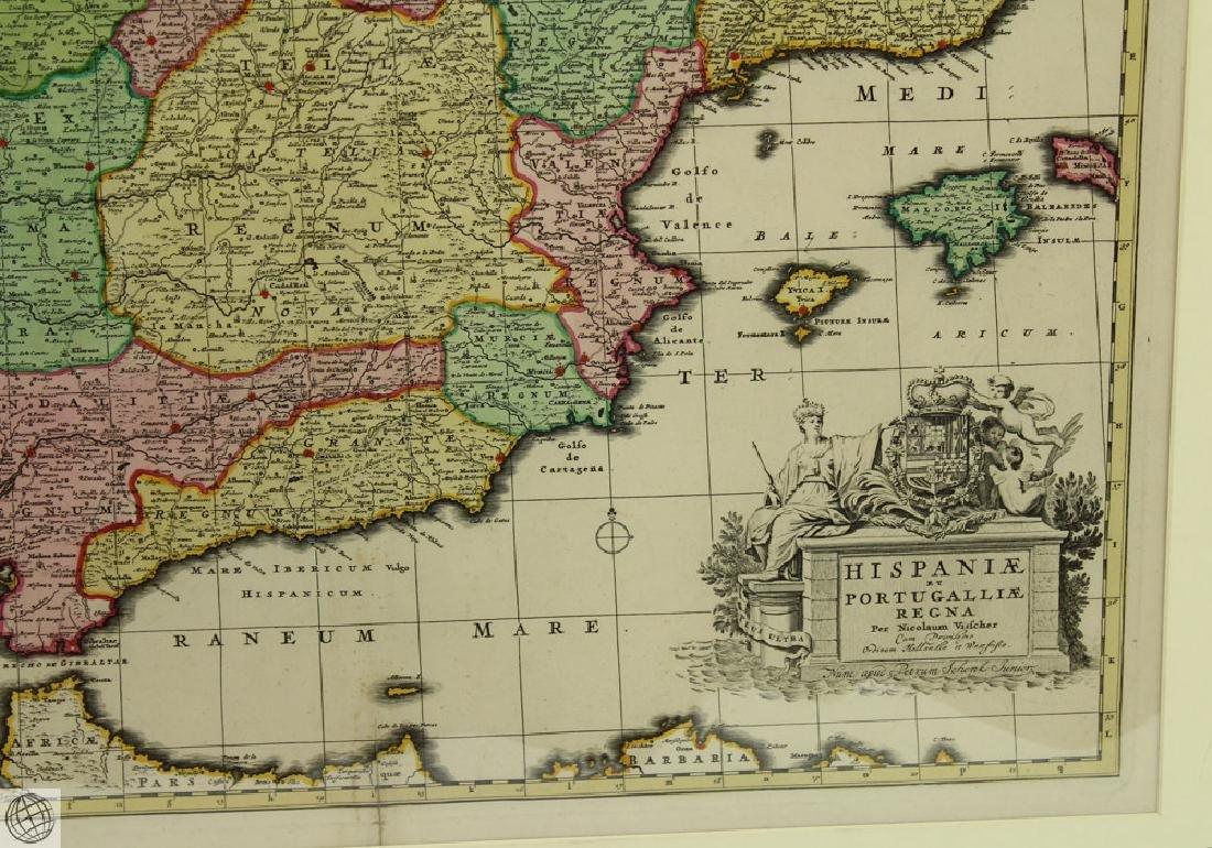 Hispaniæ et Portugalliæ Regna NICOLAES VISSCHER 1725 - 5