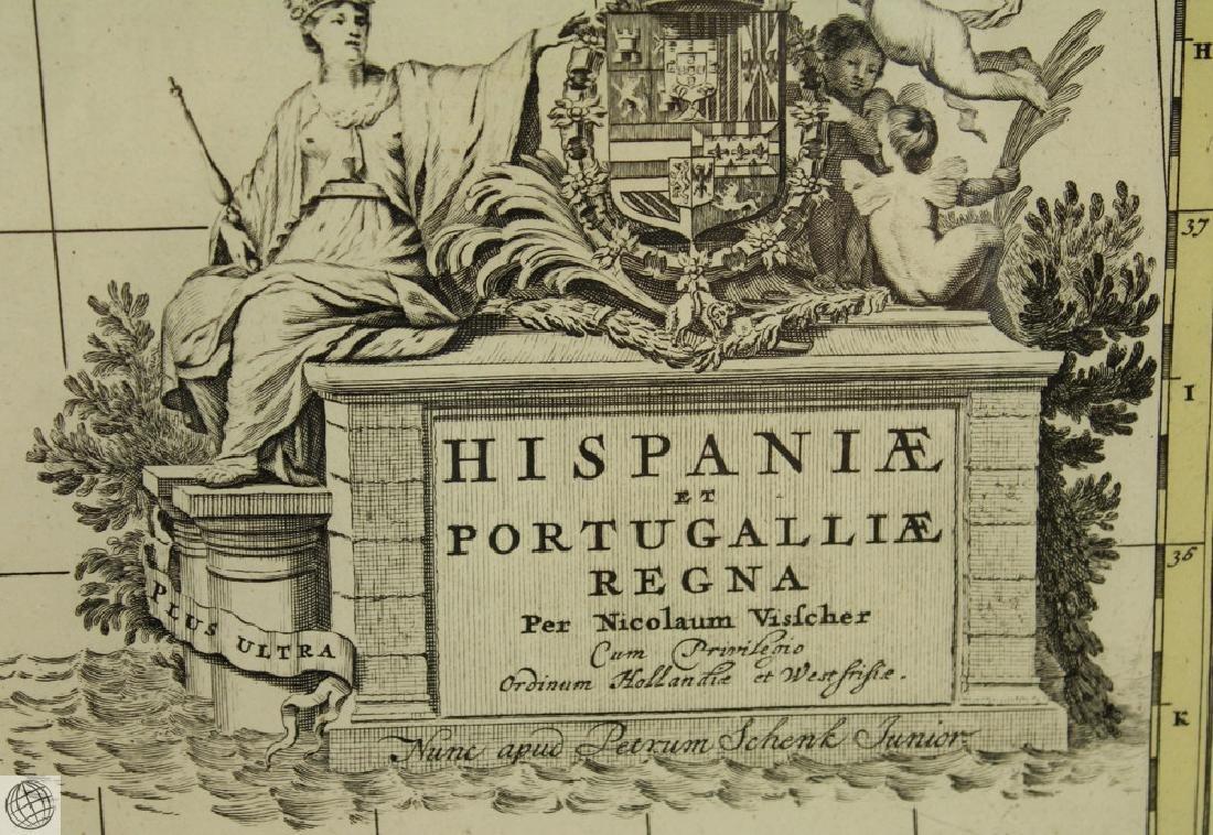 Hispaniæ et Portugalliæ Regna NICOLAES VISSCHER 1725 - 7