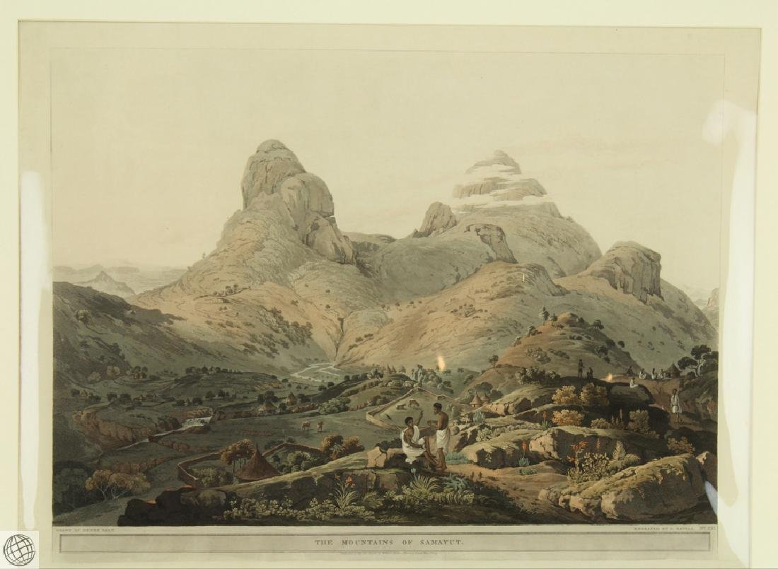 The Mountains of Samayut HENRY SALT 1809 Aquatint - 2