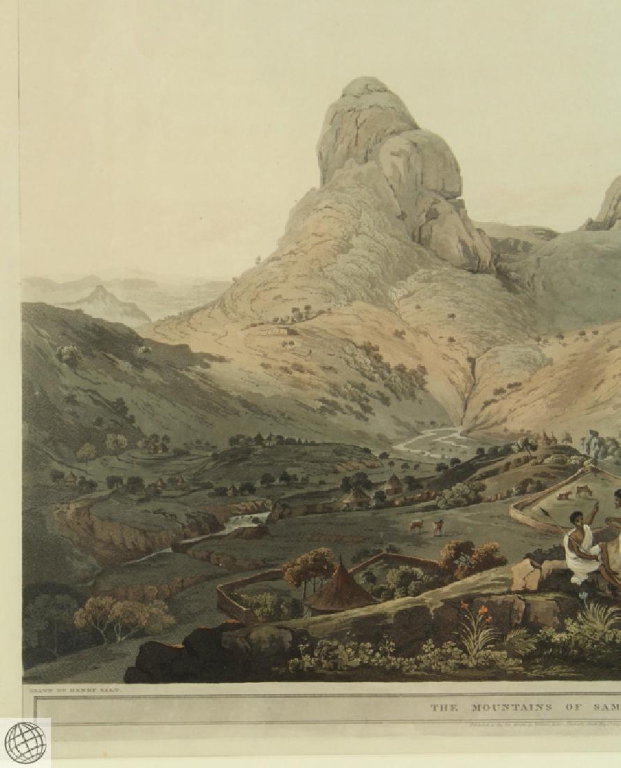 The Mountains of Samayut HENRY SALT 1809 Aquatint - 3