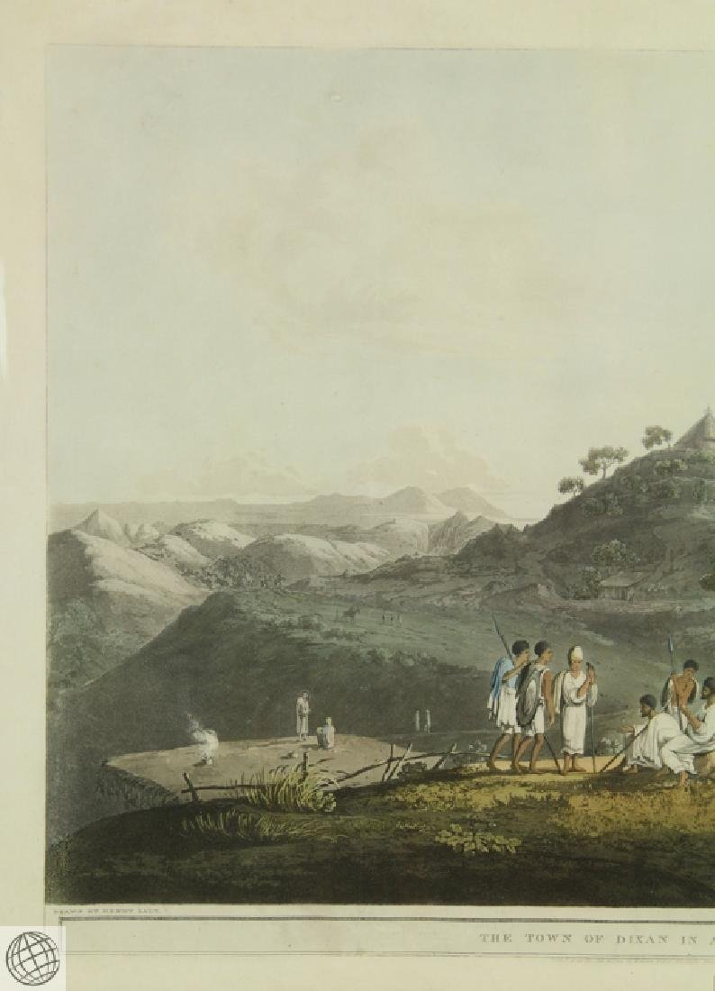 The Town Of Dixan In Abyssinia HENRY SALT 1809 Aquatint - 3