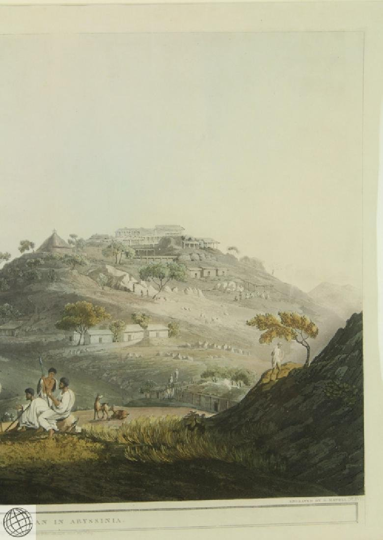 The Town Of Dixan In Abyssinia HENRY SALT 1809 Aquatint - 4