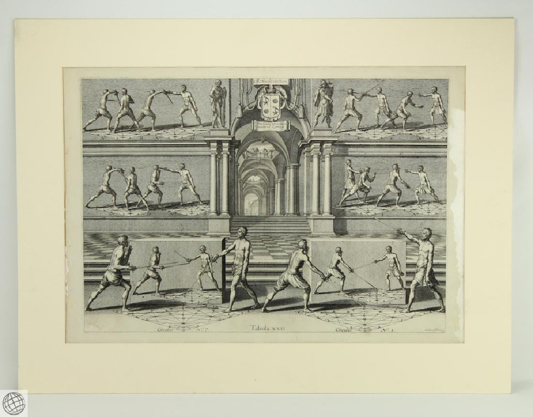 Tabula XXIX Academie de l'Espee GIRARD THIBAULT 1628