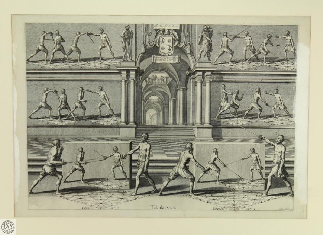 Tabula XXIX Academie de l'Espee GIRARD THIBAULT 1628 - 2