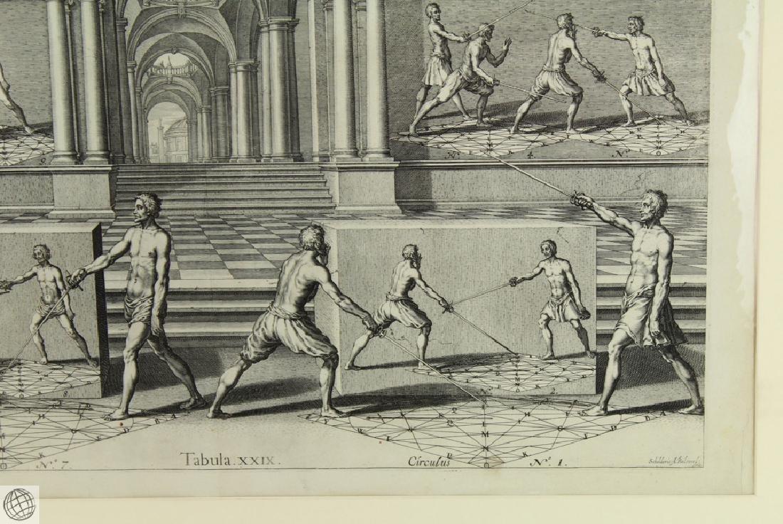 Tabula XXIX Academie de l'Espee GIRARD THIBAULT 1628 - 5