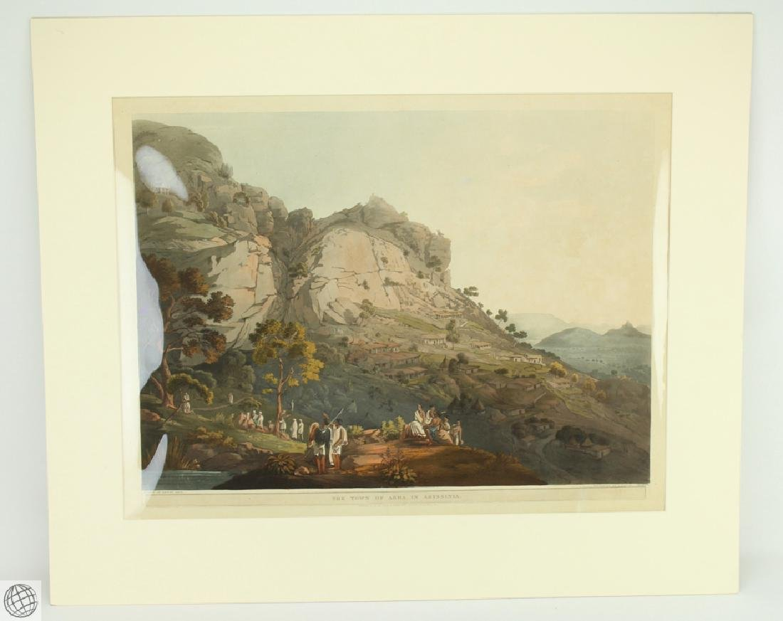 The Town of Abha in Abyssinia HENRY SALT 1809 Aquatint