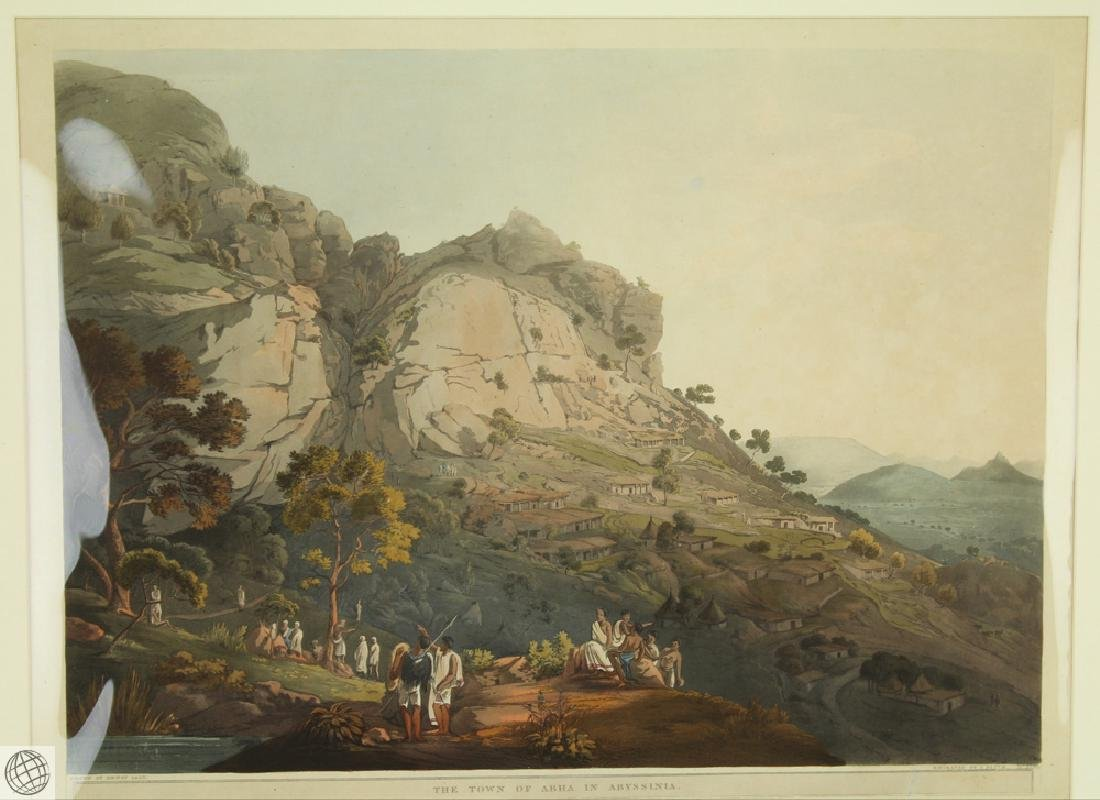 The Town of Abha in Abyssinia HENRY SALT 1809 Aquatint - 2