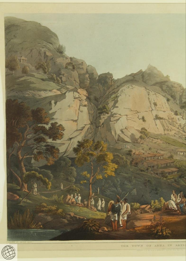 The Town of Abha in Abyssinia HENRY SALT 1809 Aquatint - 3