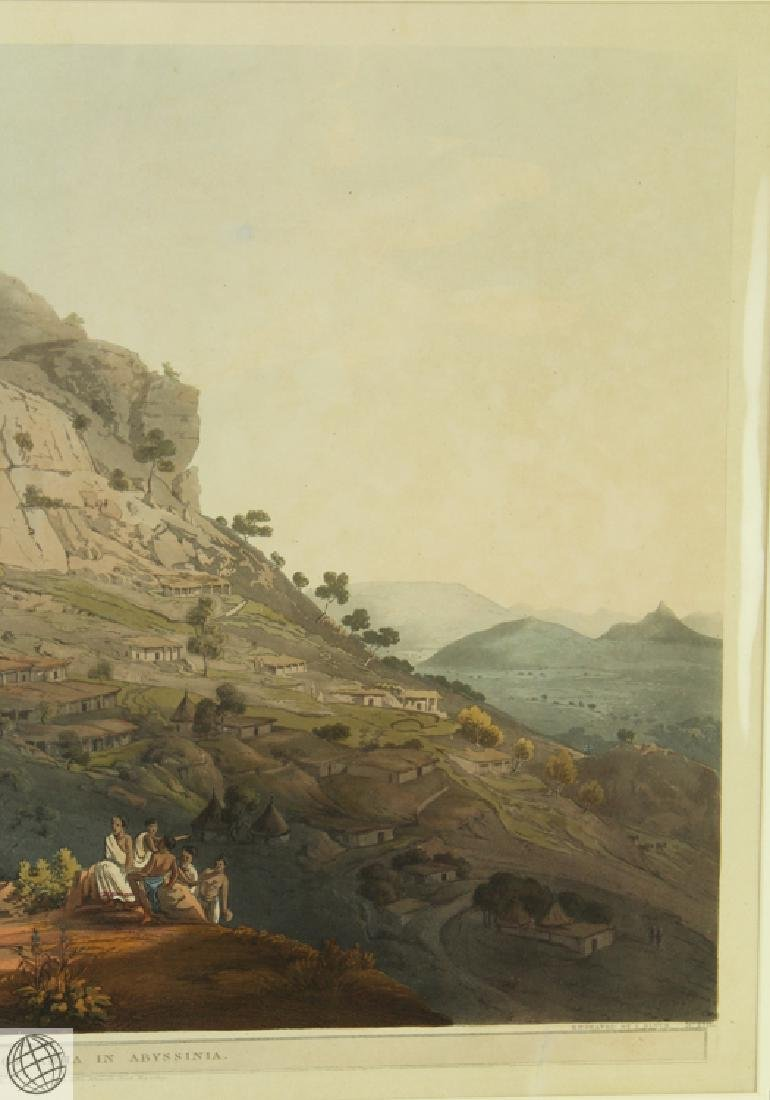 The Town of Abha in Abyssinia HENRY SALT 1809 Aquatint - 4