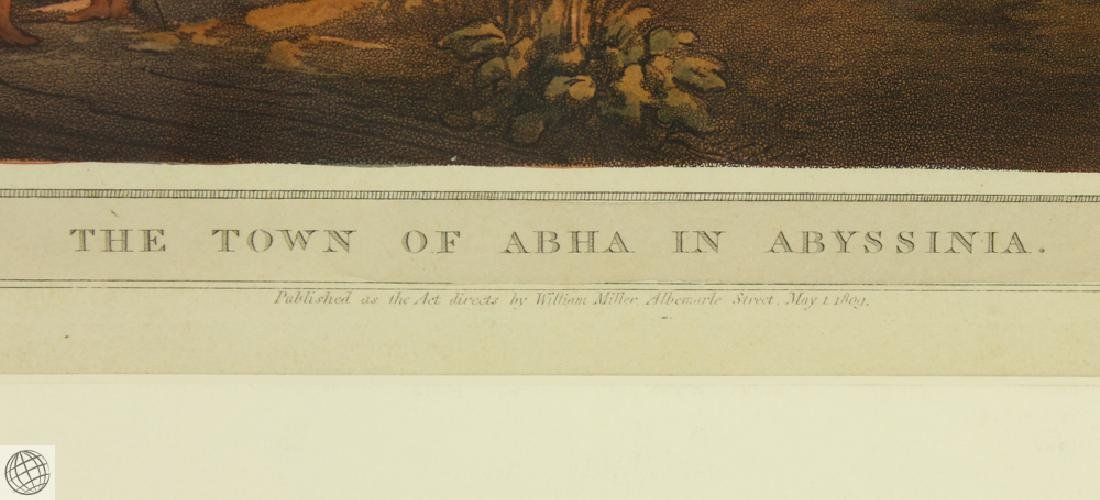 The Town of Abha in Abyssinia HENRY SALT 1809 Aquatint - 5
