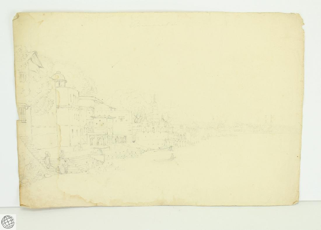 7Pcs Views of the Ganges UNKNOWN Possibly ROXBURGH - 5